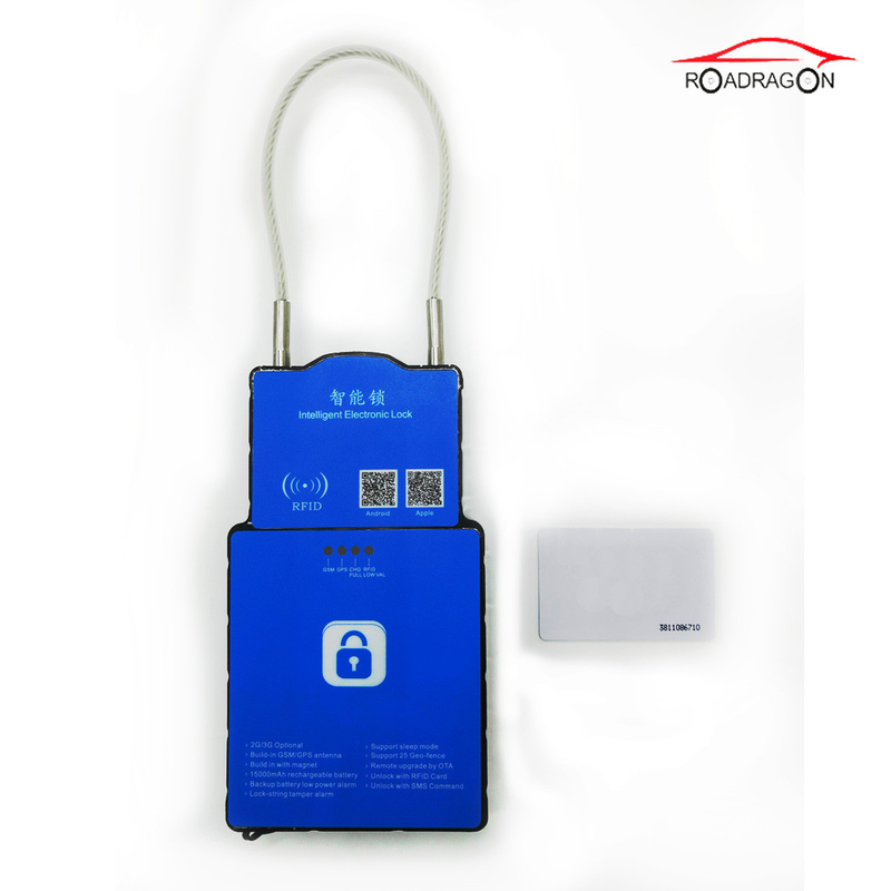 3G Logistic Security GPS Tracking Padlock , Magnetic Alerts GPS Lock Remote Control